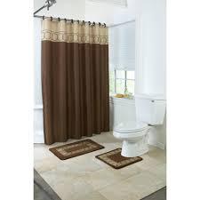 Brown Ruffle Shower Curtain by Walmart Brown Curtains