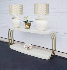 White Sofa Tables Henredon Console Table Sofa Table Post Modern Brushed