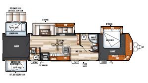 forest river salem villa classic 402qbq park trailer floor plan