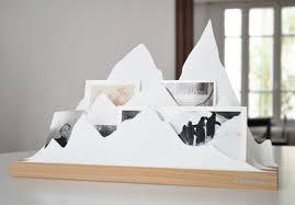 accessoires de bureau design organiseur de bureau alpes l 45 cm alpes blanc l atelier d