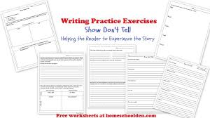 writing show don u0027t tell practice worksheets free packet