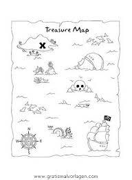 blank treasure map template free ausmalbild schatzkarte