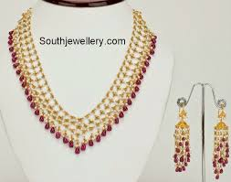 pearl ruby necklace images 45 best ruby necklace images gold decorations gold jpg