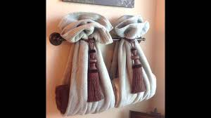 Small Bathroom Towel Rack Ideas by Bathroom Towel Design Ideas Youtube