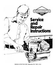 briggs stratton service manual 70076881 internal combustion