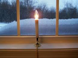 window candles electric decor