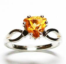 s day birthstone rings citrine ring birthstone ring yellow ring s 7 daffodils in