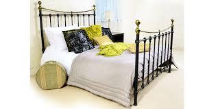 Black Metal Bed Frame Monmouth Black Metal Double Bed 4ft6 Metal Bed Frame Wood Slats