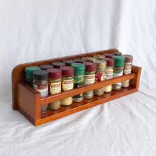 Kitchen Furniture Ideas by Furniture Open Top 1 Tier Wooden Spice Rack For Kitchen Furniture