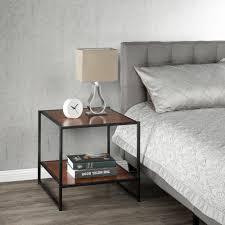 side tables modern zinus modern studio chestnut side table hd et 2020q the home depot