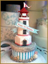 lighthouse cake topper lighthouse cake topper centerpiece keepsake box image