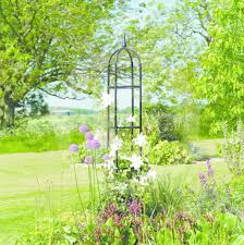 gardman easy garden obelisk 243 x 42cm plant support coated