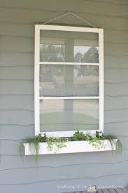 how to build a window flower box diy vintage window flower box