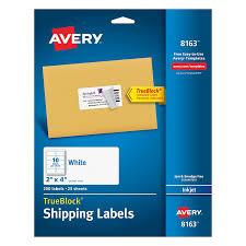 amazon com avery shipping labels with trueblock technology 2 x