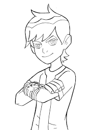 colouring pages ben 10 funycoloring