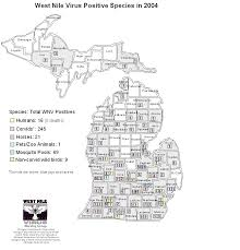 A Map Of Michigan by Emerging Disease Issues 2004 Surveillance Maps