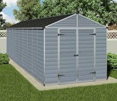 Modern Garden Sheds Palram Skylight Anthracite Polycarbonate Shed 8x20 Gardens