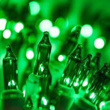 white lights 50 green mini lights 6