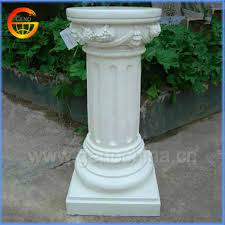 White Pedestal Flower Stand Popular Designs Fiberstone Pillar Flower Stand Designs Buy