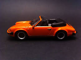 orange porsche convertible porsche 911 carrera cabriolet 1983 orange 1 43 minichamps