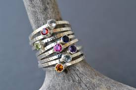 stacking birthstone rings stackable birthstone rings