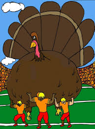 thanksgiving time for food and football blueprint