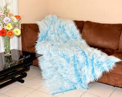 Cheap Faux Fur Blanket Sleek Bedding Set For Blue Bedroom Ideas With Ornaments On The