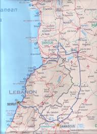 Lebanon World Map by Saida Map