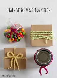 wrapping ribbon crochet a day chain stitch wrapping ribbon make and takes