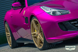 purple ferrari vossen wheels ferrari gtc4 lusso vossen forgedhc series hc 1