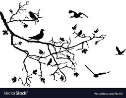 birds on branch royalty free vector image vectorstock