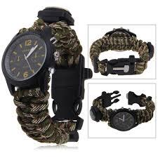 survival bracelet watches images Survival paracord bracelet compass fire starter prepper camping jpg