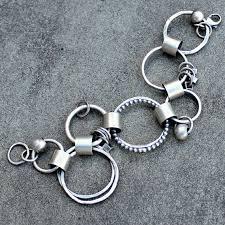 pandora silver link bracelet images Sterling silver bracelet hammered link bracelet by lsueszabo jpg