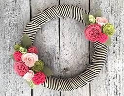 best 25 felt flower wreaths ideas on felt wreath