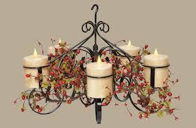 faux pillar candle chandelier lighting faux pillar candle chandelier home design ideas