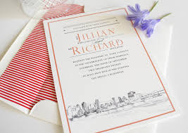 wedding invitations san diego san diego skyline wedding invitations