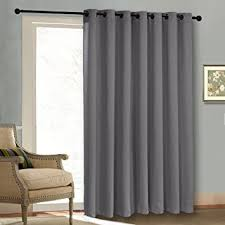 Extra Wide Panel Curtains Amazon Com Thermal Patio Door Curtain Panel Wide Width Solid