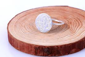 Monogram Rings Silver Monogram Rings Sparkles And Shoes