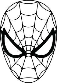 coloring pages spiderman mask printable spiderman mask printable
