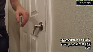 door lock handle sagging has lost it u0027s spring back qualities not