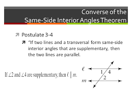 Same Side Interior Angles Postulate Warm Up 9 20 12 Solve For X And Y Practice From Yesterday K