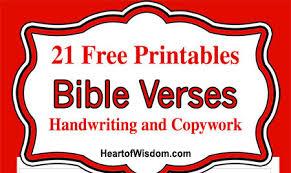 free handwriting bible verses of wisdom homeschool