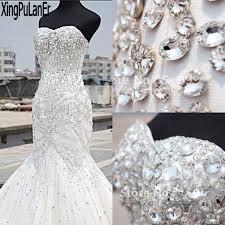 wedding dress mermaid aliexpress buy shiny heavy beaded luxury wedding