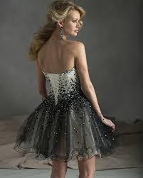 vestidos de fiesta gala real sample cheap black and white short