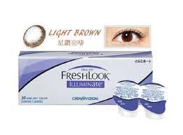 Light Brown Contact Lenses Freshlook Illuminate Light Brown Contact Lens 1day Power 0 00 P