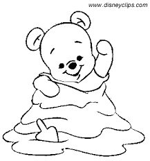 baby winnie pooh christmas coloring pages u2013 happy holidays