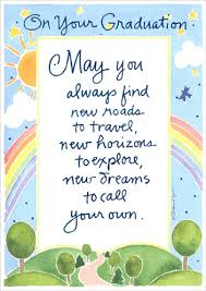 new roads to travel graduation congratulations card by recycled