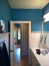 glidden native turquoise paint color for the guest bathroom