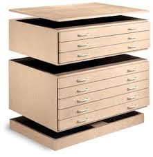 Unfinished Filing Cabinets Wood Smi Unfinished Natural Birch Stackable Files Blick Art Materials