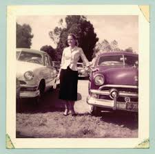vintage cars 1950s stunning vintage kodacolor prints of american women posing with